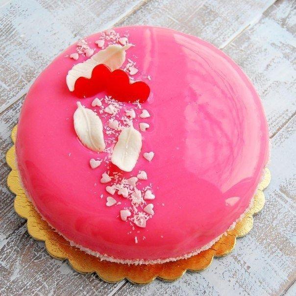 Как сделать муссовый торт с зеркальной глазурью рецепт
